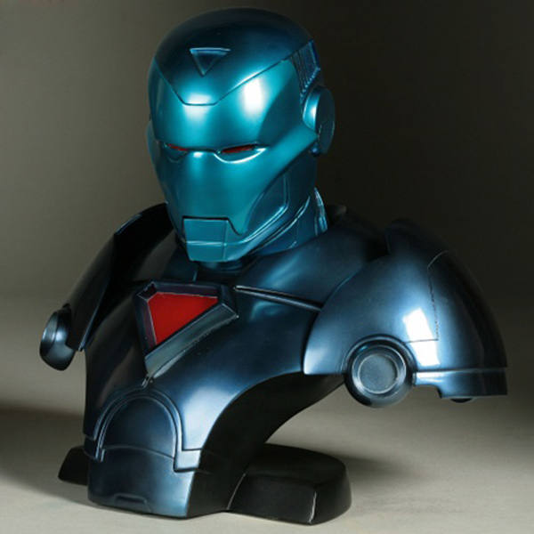 stealth iron man tony stark marvel bust statue