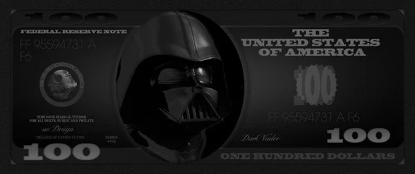 darth vader make your franklin 100-dollar bill design fun cool