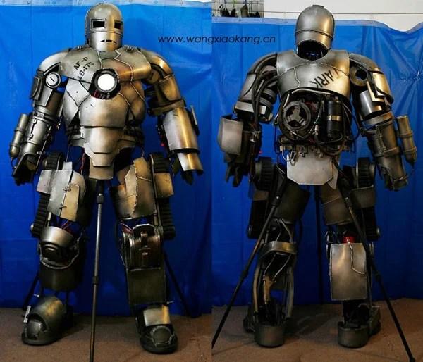 wang xiao kang iron man suit diy amazing tony stark cosplay
