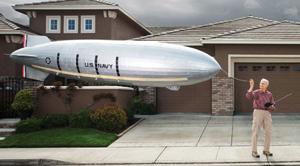 replica jack clemens uss macon airship blimp remote controlled