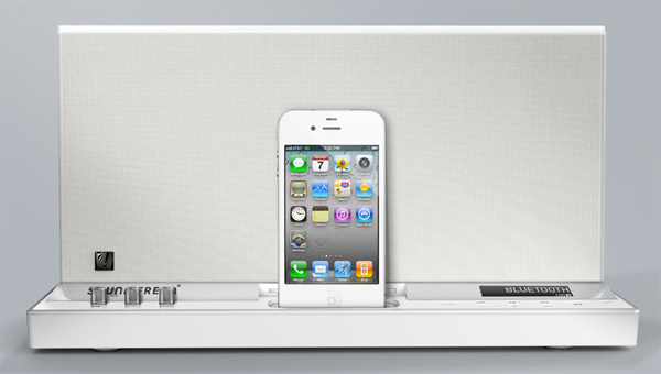 soundfreaq sound platform dock iphone ipod touch sfq-01 white ghost