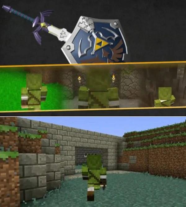 minecraft video game zelda 8-bit adventure retro