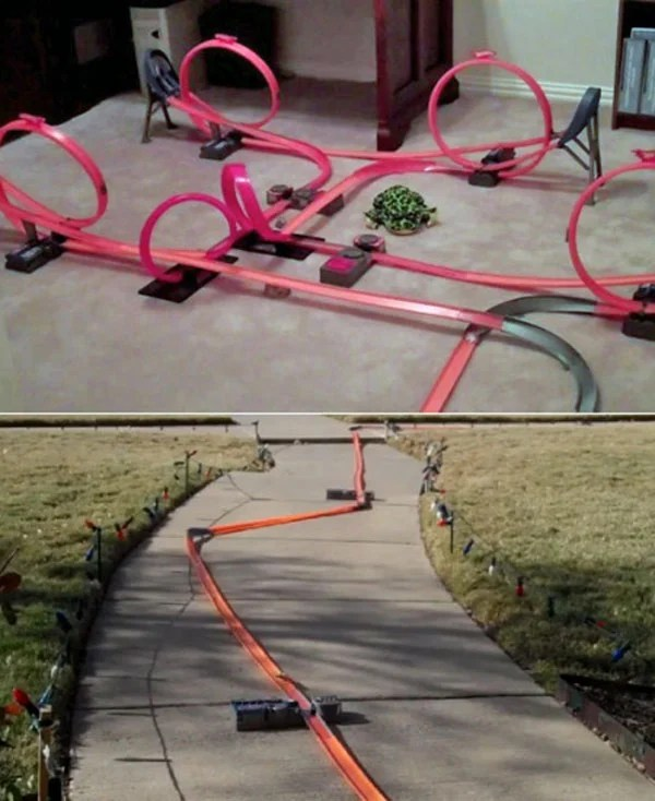 hot wheels track long fun video