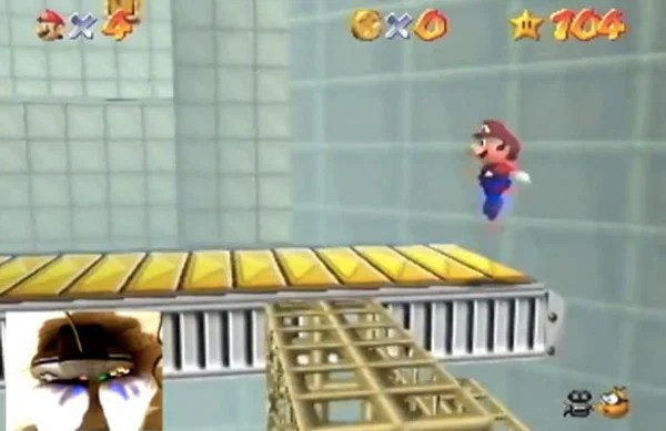 vicas3 super mario 64 nintendo playing feet