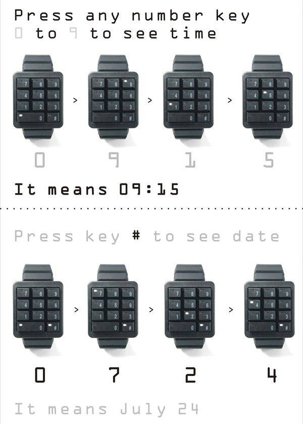 Click Keypad LED Watch: Time to Push Some Buttons