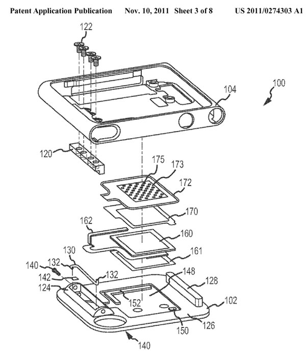 Apple Patent App Shows Fancy Speaker Clip for iPod nano
