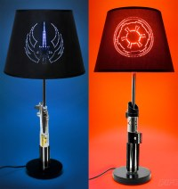 Lightsaber Table Lamps Put Darth Vader and Anakin on the ...