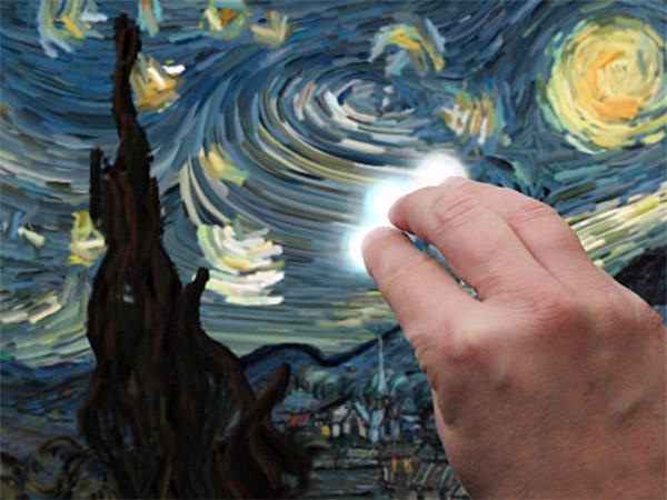 interactive starry night