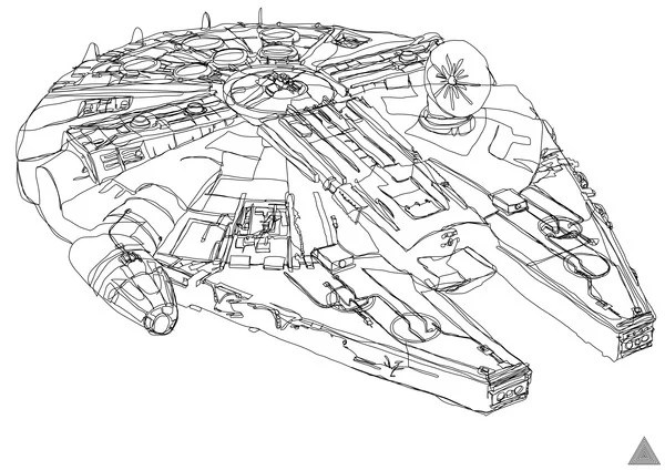Star Wars Continuous-Line Drawings: The Pen is Mightier