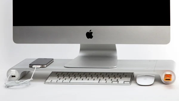 space bar desk organizer