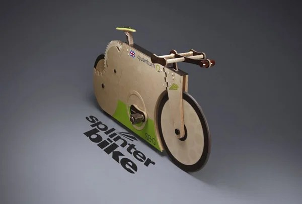 splinterbike quantum wooden bike