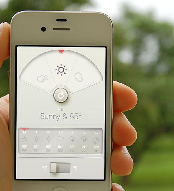 wthr iphone app minimal