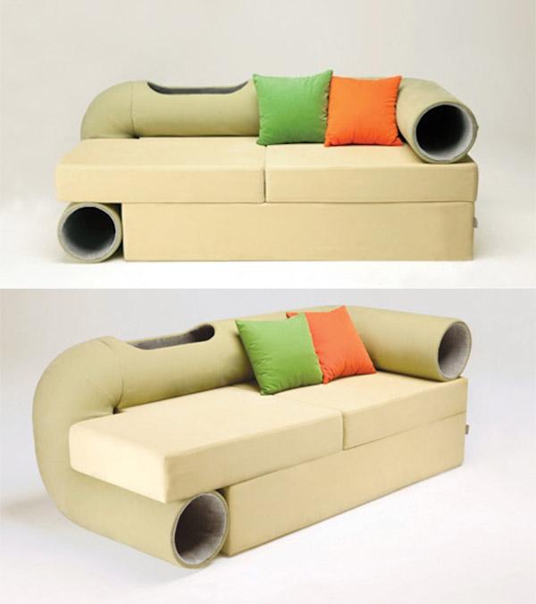 cat tunnel sofa 1