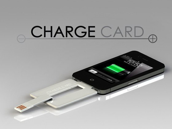 chargecard iphone kickstarter usb 30 pin