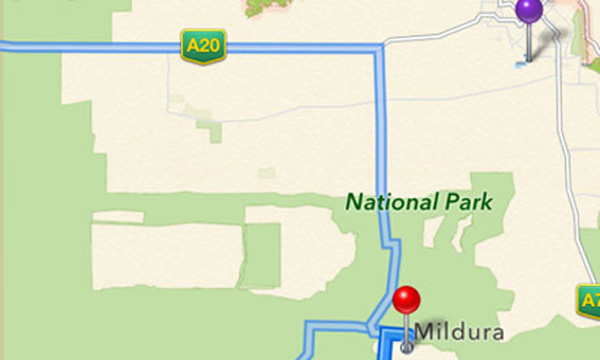apple maps mildura australia