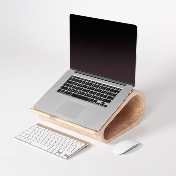vool laptop stand wood