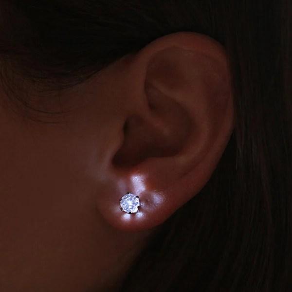led crystal earrings light