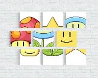Mario Match Canvas Prints: Are Minigames Mini Art? - Technabob