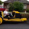 This full size lego car is powered by air