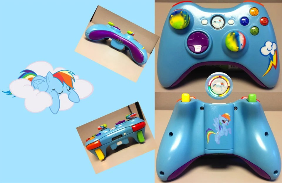 My Little Pony Custom Xbox 360 Controllers Friendship Is
