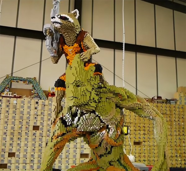 Life-size Groot And Rocket Raccoon Lego Sculpture Guards