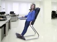 Standing Desk + Backrest = LeanChair