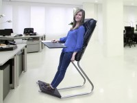 Standing Desk + Backrest = LeanChair - Technabob