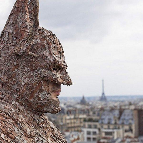 Wearable Batman Suit Tree Bark Man - Technabob