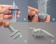 3d printed hair furbrication