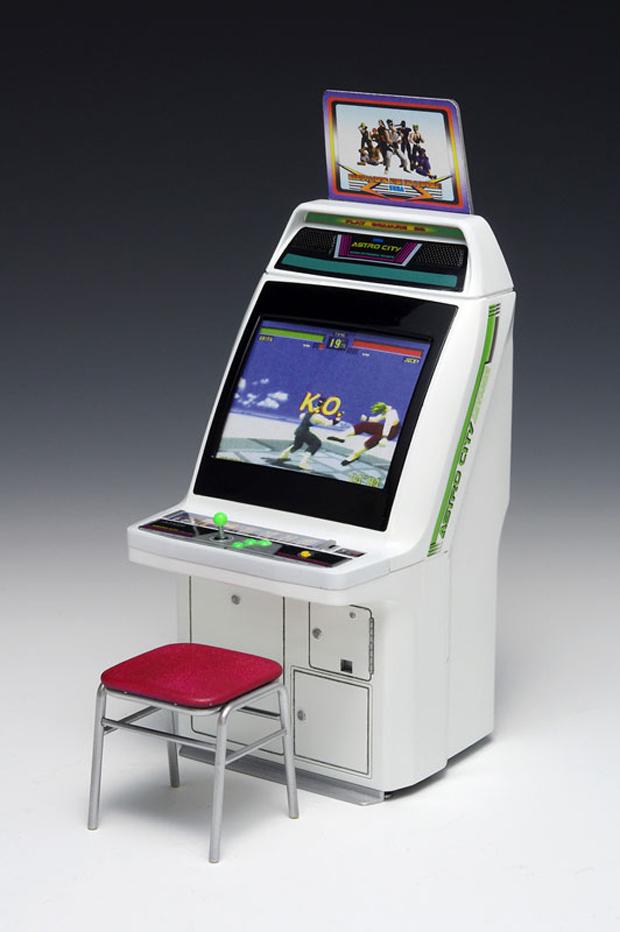 Wave Sega Astro City Arcade Machine 112 Scale Model Virtua Pocket Fighter Technabob