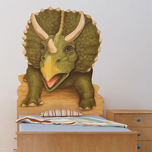 TRex  Triceratops Headboards Jurassic Nap