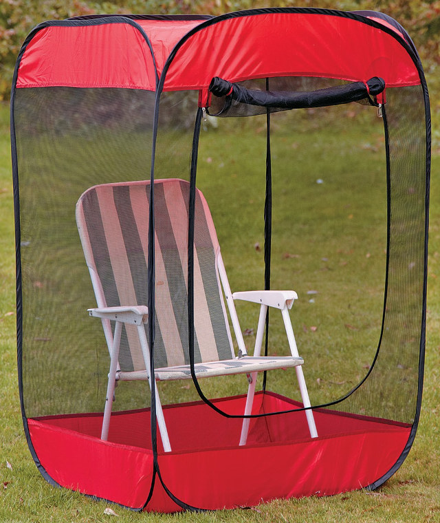 folding sports chair eames uk pop-up insect screen tent debugs your world - technabob