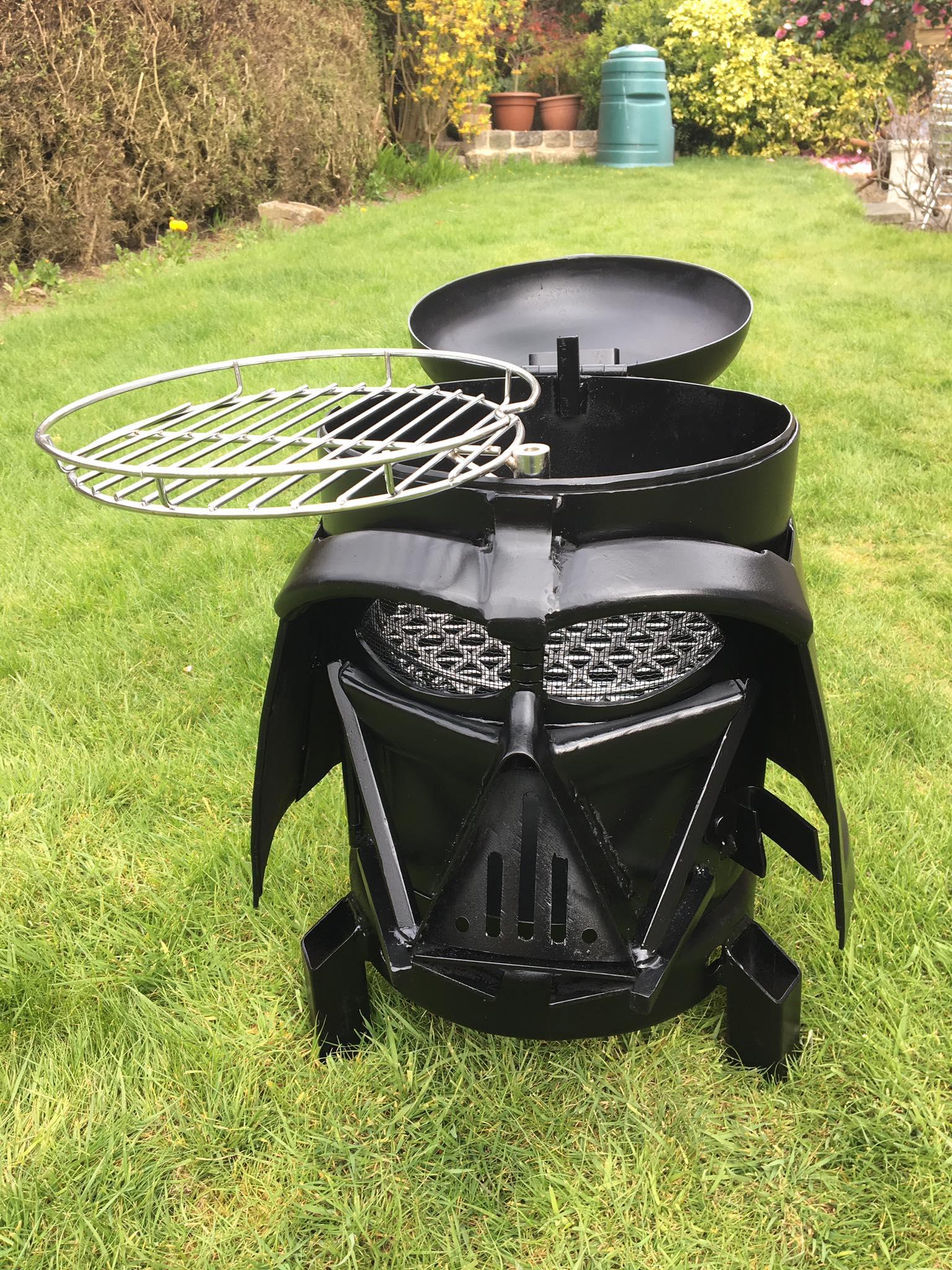 Darth Vader Backyard Grill and Wood Burner Hes More BBQ