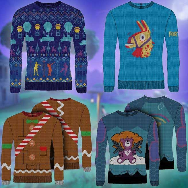 Fortnite Holiday Sweaters Bring A Battle Royale To Your