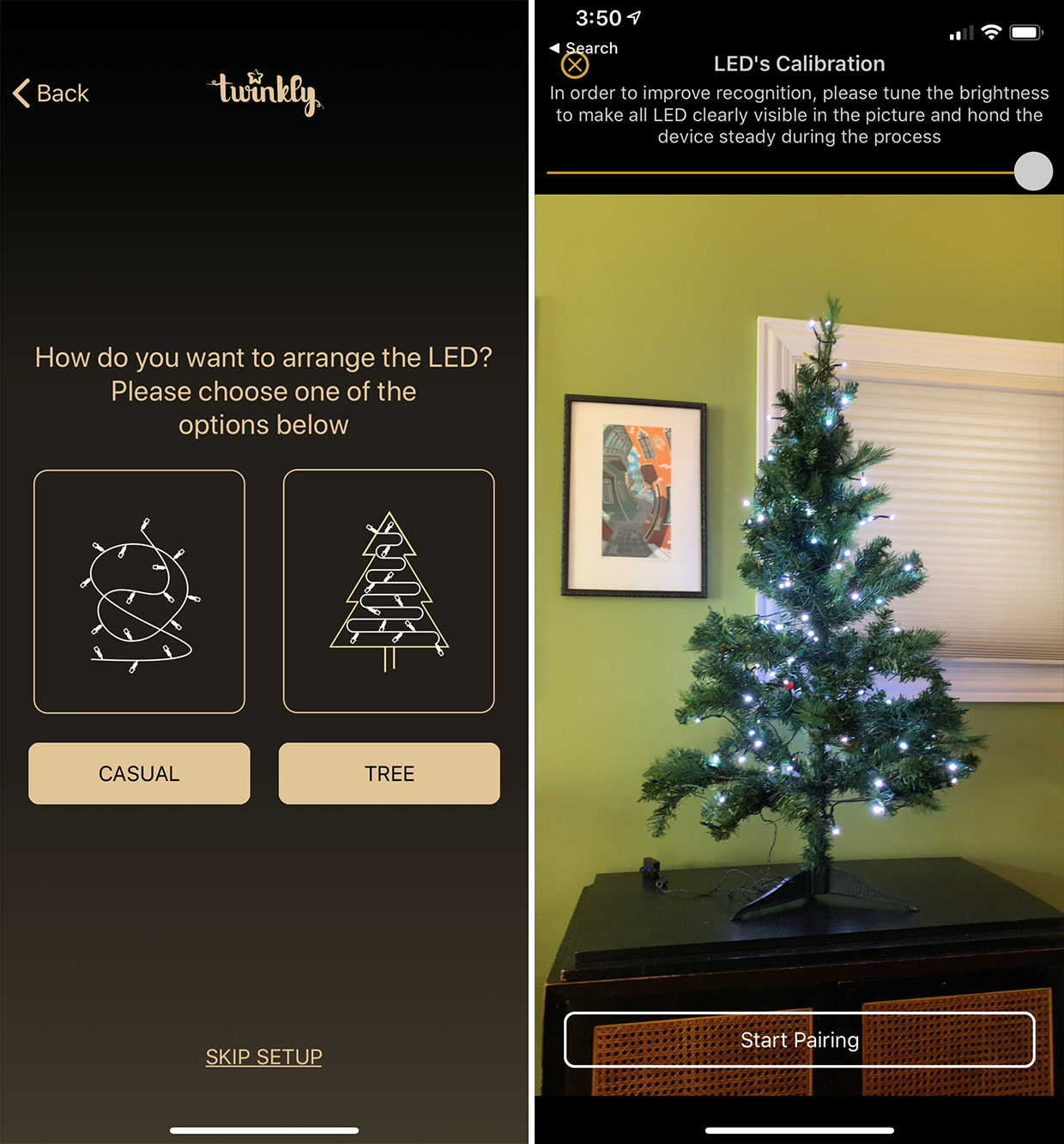 hight resolution of after the twinkly string is connected to your wi fi network you go through a slick visual calibration process which uses your phone s camera and ai smarts