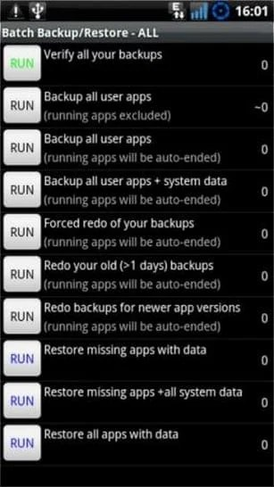 Backup User Apps+System Data
