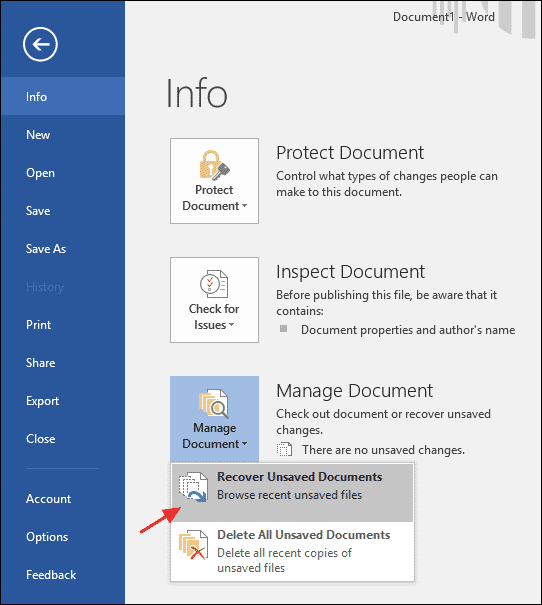 How To Recover An Unsaved Microsoft Office File  Technastic