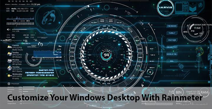 How To Make Live Wallpaper Iphone X Customize Your Windows Desktop With Rainmeter Technastic