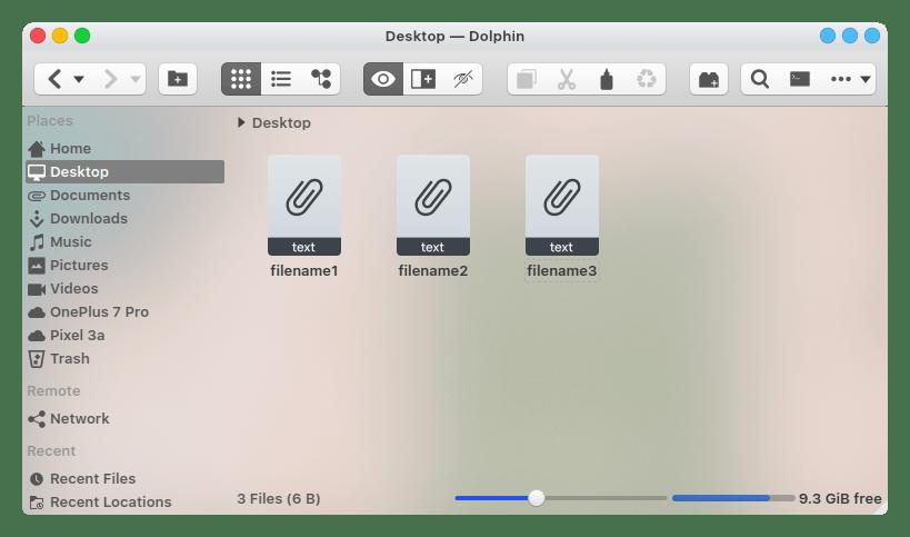 files on desktop