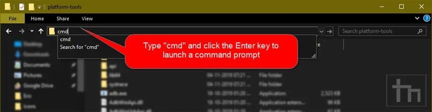 launch command window