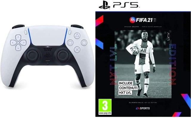 BUNDLE CONTROLLER DUALSENSE + FIFA 21 NEXT LEVEL EDITION