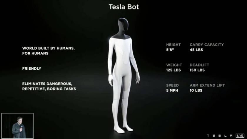 Tesla Bot - dettagli