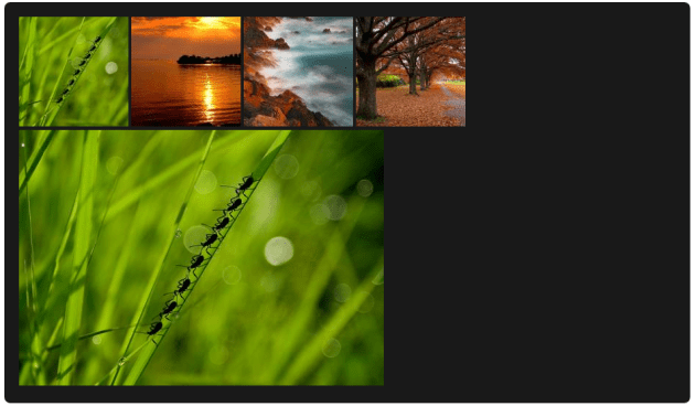State 2 for Image Gallery using HTML and CSS