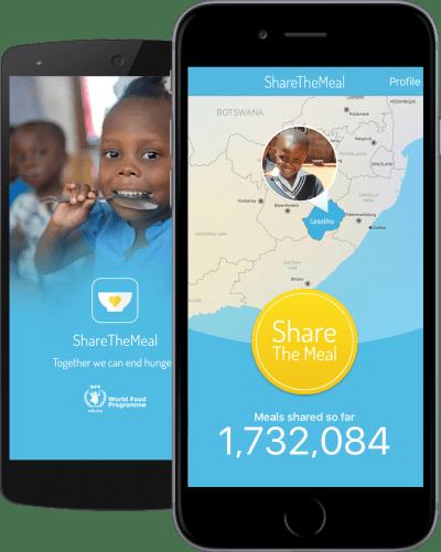 """유엔, 터치 한 번으로 간편하게 아이들의 식사를 기부할 수 있는 앱 """"ShareTheMeal"""" 발표"""