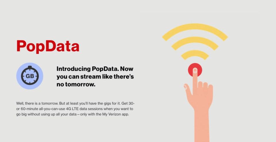 버라이존, 30분 단위 무제한 LTE 요금제 출시