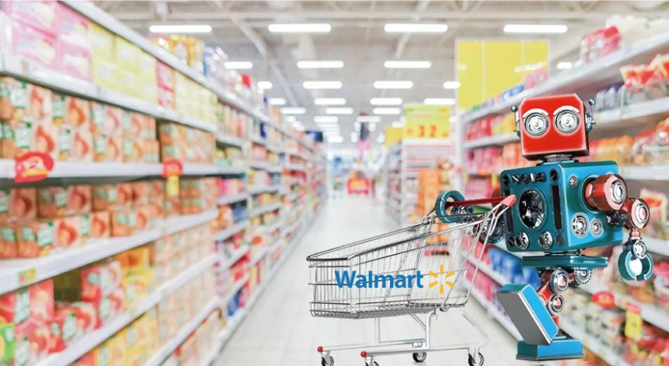 월마트가 공개한 식료품 담는 로봇, 알파봇