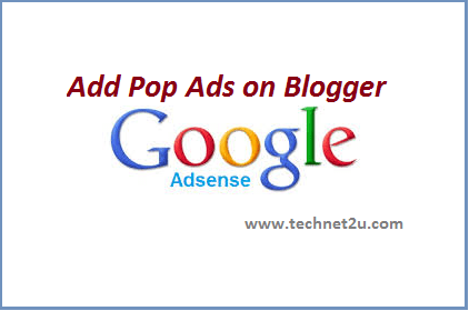 Add Pop-Up Google adsense Ads