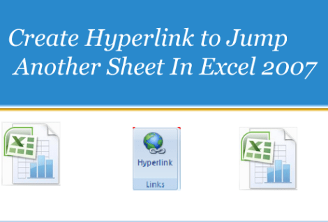 Create Hyperlink to Jump Another Sheet