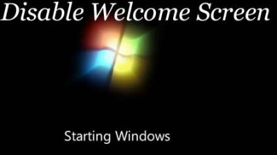 disable logon welcome screen windows 7
