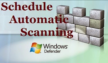 Schedule Windows Defender for Automatic Scan